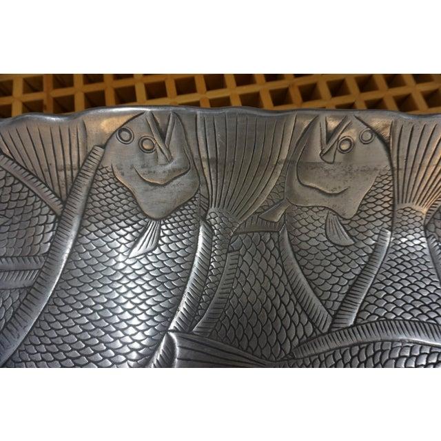 Arthur Court Polished Aluminum Fish Platter by Arthur Court For Sale - Image 4 of 6