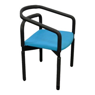 Vintage Mid Century Modern Metro Steelcase Arm Chairs Milo Baughman Style For Sale