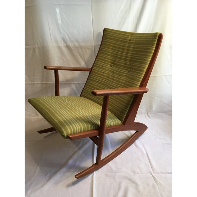 1960s 1960s Vintage Soren Georg Jensen Teak Model 57 Rocking Chair For Sale - Image 5 of 9