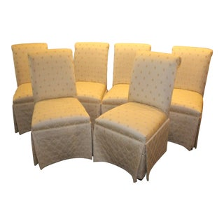 Vintage Mid Century Upholstered Dining Chairs- Set of 6 For Sale