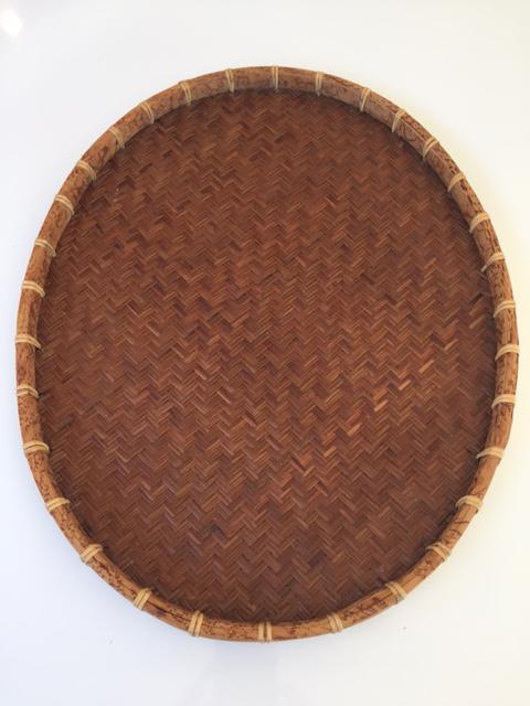 Oval Rattan U0026 Bamboo Basket Tray   Image 5 ...