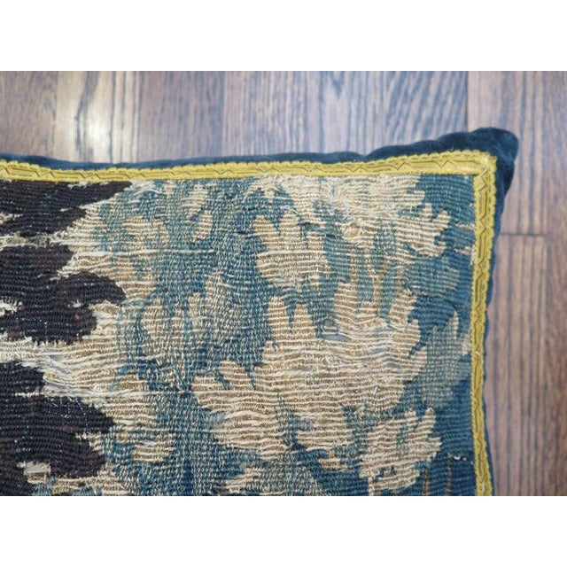 18th Century 18th Century Maison Maison Verdure Tapestry Pillow For Sale - Image 5 of 7