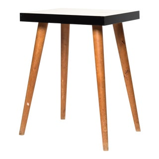 Tall Vintage Laminate Side Table
