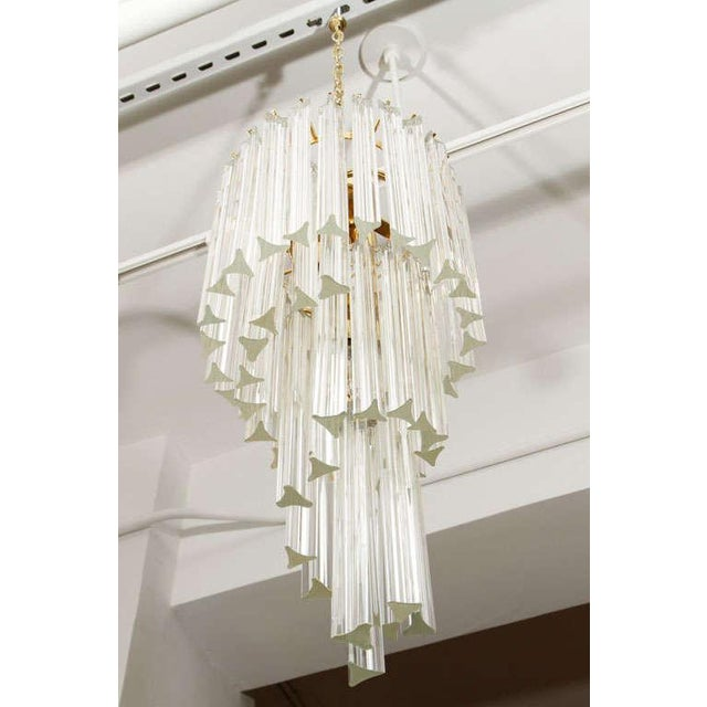 Murano Glass Foyer Chandelier For Sale In New York - Image 6 of 9