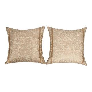B. Viz Design Antique Campanelle Fortuny Textile Pillows - a Pair For Sale