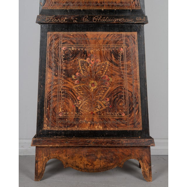Metal 19th Century French Comtoise Grandfather Clock For Sale - Image 7 of 12