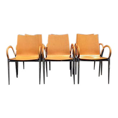 Lowenstein Bentwood & Chrome Dining Chairs - Set of 6 For Sale