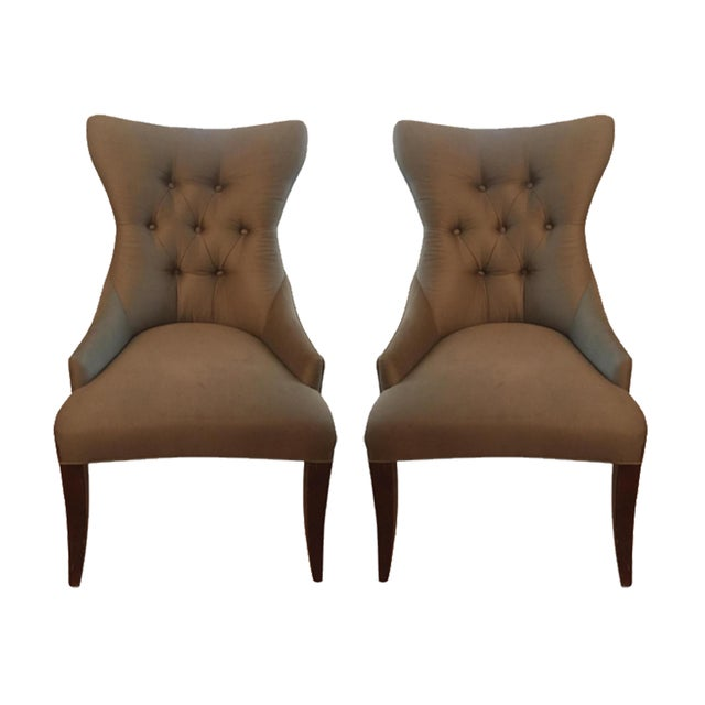 Bernhardt Tufted Dining Chairs - A Pair - Image 1 of 4