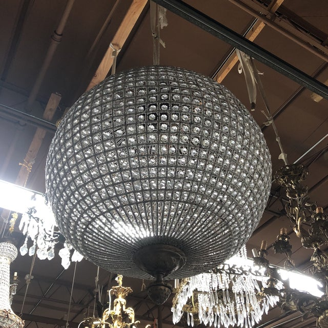 Crystal Chandelier With Acanthus Details For Sale - Image 5 of 5