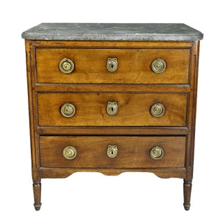 Louis XVI Provincial Walnut Commode For Sale