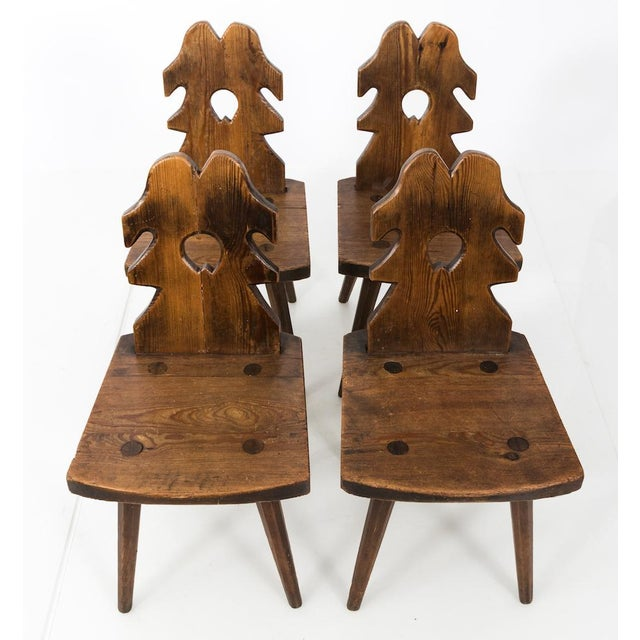 Arts and Crafts Wood Side Chairs - Set of 4 For Sale - Image 10 of 10