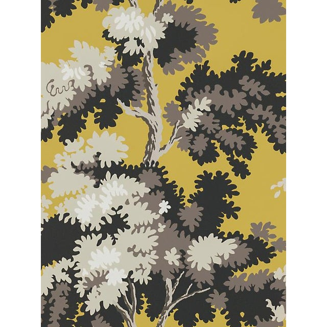 Scalamandre Raphael, Yellow/Grey/Lh Wallpaper For Sale