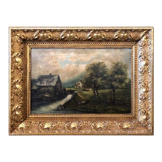 19th Century Oil on Canvas Signed G. Campbell Stoddard Dated 1896 For Sale