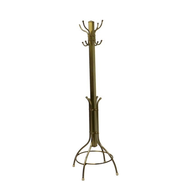 Mid-Century Coat and Hat Stand in Brass - Image 1 of 5
