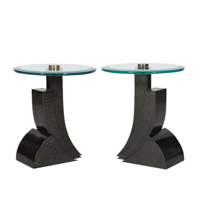 Final Markdown Art Deco Sculptural Side Tables - Image 1 of 4
