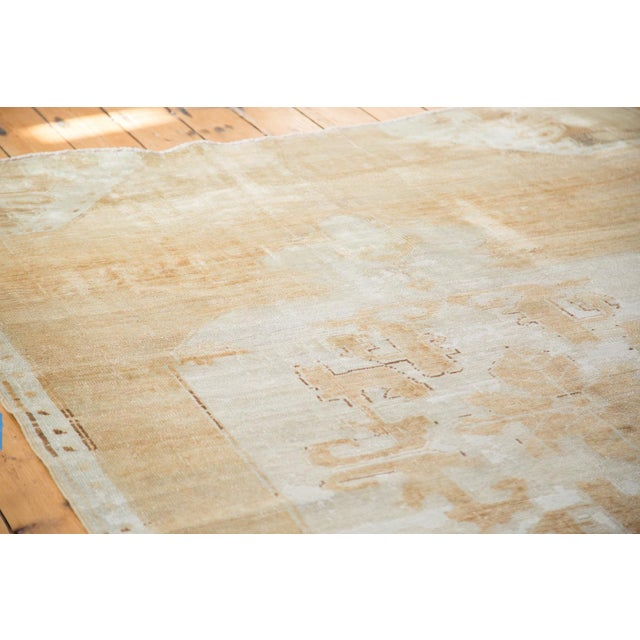 "Gold Distressed Oushak Carpet - 5'10"" X 9'1"" For Sale - Image 8 of 10"