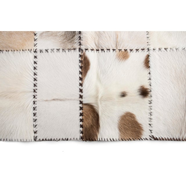 """Hand Stitched Goatskin Patchwork Area Rug - 5'1"""" x 8'1"""" - Image 4 of 9"""