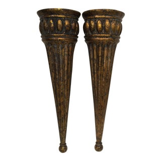 Wall Hung Vases - a Pair For Sale