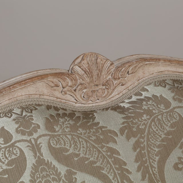 A 19th Century Damask Upholstered Swedish Sofa, circa 1880 For Sale - Image 6 of 8