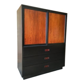 Harvey Probber Rosewood and Ebonized Mahogany Chest For Sale