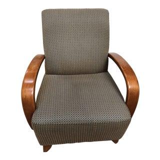 Robert Allen Group Miranda Walnut Armchair For Sale