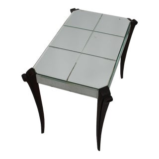 1940s Mirrored Art Deco Side Table For Sale