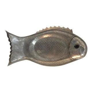 Vintage 1975 Arthur Court Aluminum Large Fish Platter For Sale