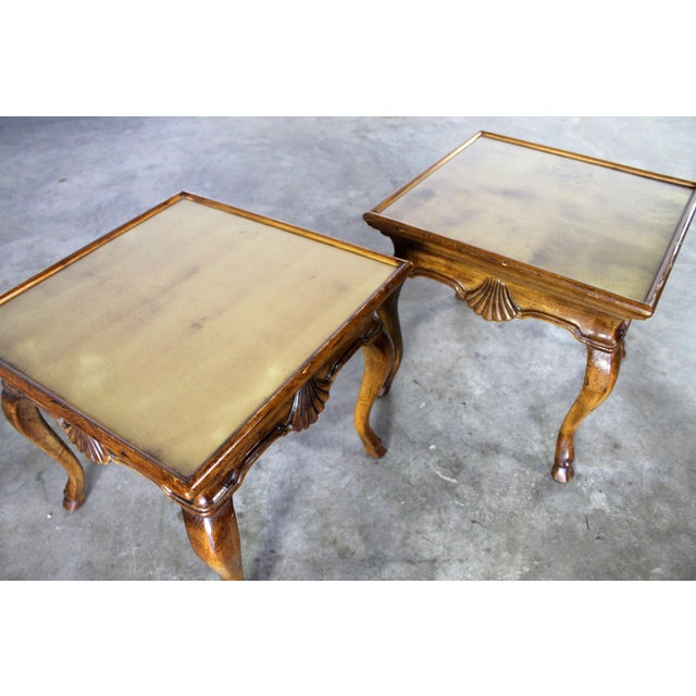 Brown Vintage Brittiany for Heritage Hooved Side Tables - a Pair For Sale - Image 8 of 11