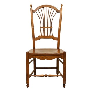 Late 20th Century Vintage Nichols & Stone Wheat / Sheaf Back Dining Chair For Sale