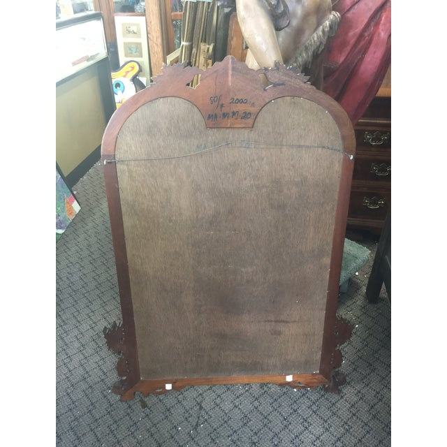 1980s Carved Mahogany Mirror For Sale - Image 4 of 9