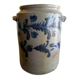 Parr Stoneware Jar With Cobalt For Sale