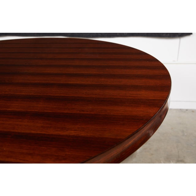 Italian Round Pedestal Dining Table of Palisander Wood For Sale - Image 10 of 12