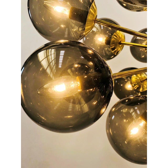 Ovale Sputnik Chandelier by Fabio Ltd For Sale In Palm Springs - Image 6 of 9