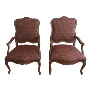 Modern Ethan Allen Avignon French Arm Chairs - A Pair For Sale