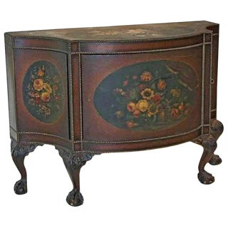 George III Style Painted Leather Commode For Sale