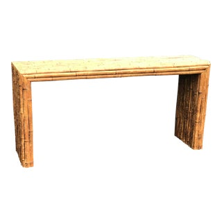 Vintage Solid Bamboo Console Table