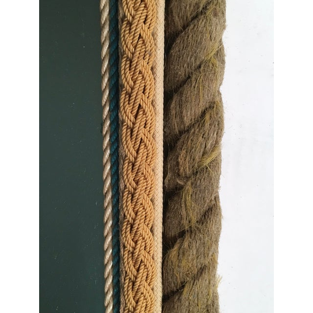 Glass Sailor Made Nautical Ropework Mirror For Sale - Image 7 of 12