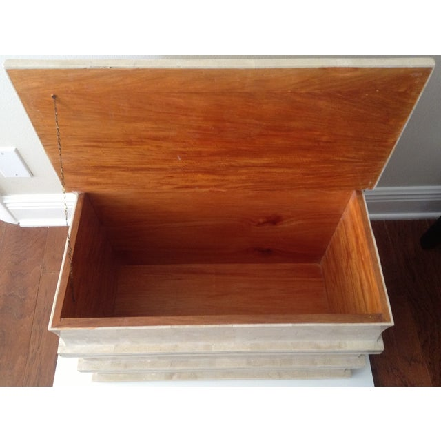 Maitland Smith Tessellated Stacked Book Chest For Sale - Image 11 of 11