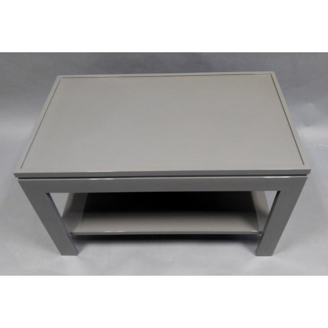 Contemporary Contemporary Gray End Table/Night Stand With a Faux Tray Design For Sale - Image 3 of 5