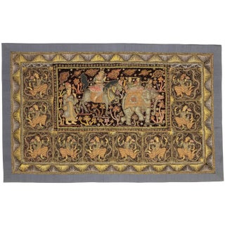 RugsinDallas Myanmar Embroidered Kalaga Tapestry For Sale