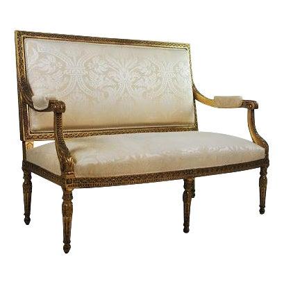 Louis XVI Gilded Settee - Image 1 of 11