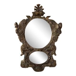 Italian Walnut Carved Mirror For Sale