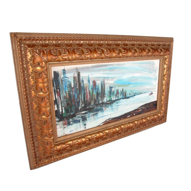 """Rod Rodgers Painting, """"East Side Skyline"""" For Sale - Image 4 of 8"""