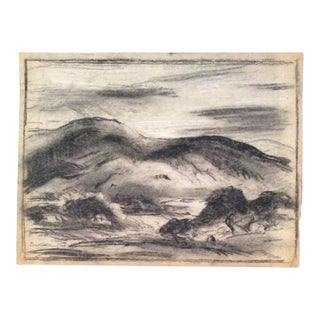 Eliot Clark Mountain Landscape Drawing For Sale