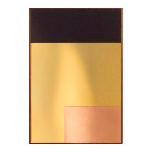 Rectangular Constructivist Mirror by Nina Cho For Sale