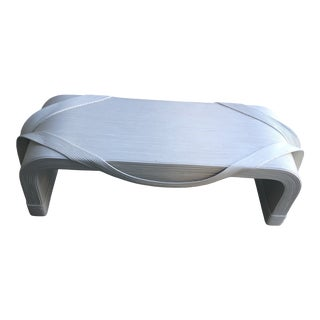 Pencil Reed Bench or Low Coffee Table by Betty Cobunpue For Sale