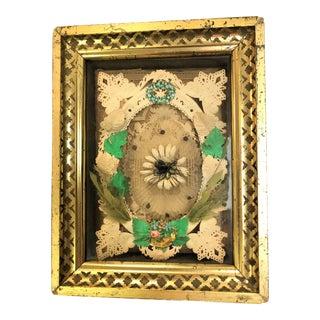 19th Century Antique Victorian Valentine Handmade Shadow Box For Sale