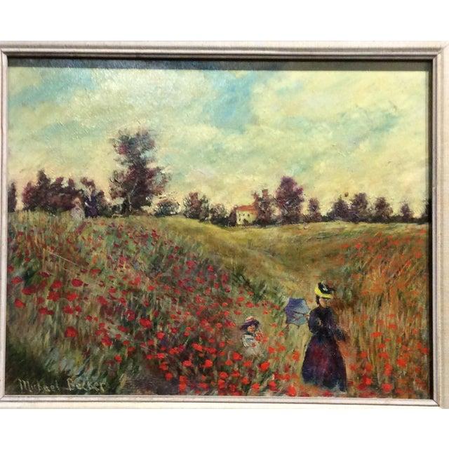 Impressionism Antique Framed Impressionism Signed Painting For Sale - Image 3 of 11