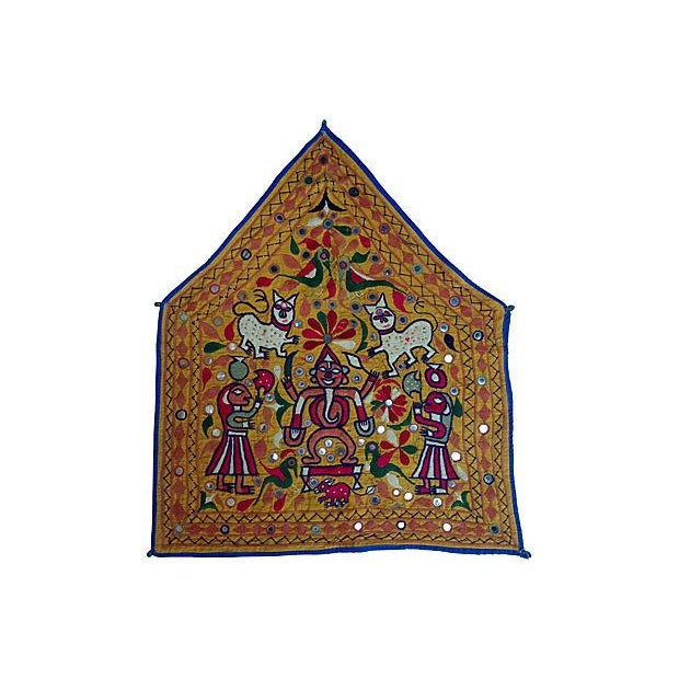 Indian Embroidered Banner For Sale