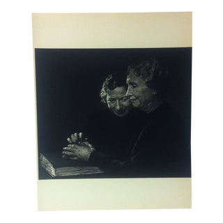 "Black & White Print on Paper, ""Helen Keller"" by Yousuf Karsh, 1967 For Sale"